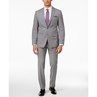 Tallia Mens Slim-Fit Pinstripe Suit