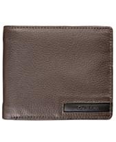 495dd17a9795e Calvin Klein Men s Pebble-Leather Money Clip Billfold   Keychain Set