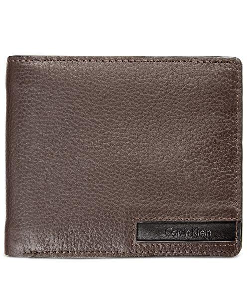 33f107801 ... Keychain Set  Calvin Klein Men s Pebble-Leather Money Clip Billfold    Keychain ...