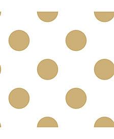 Graham & Brown Dotty Gold Wallpaper