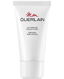 Receive a Complimentary Body Lotion with any large spray purchase from the Mon Guerlain fragrance collection