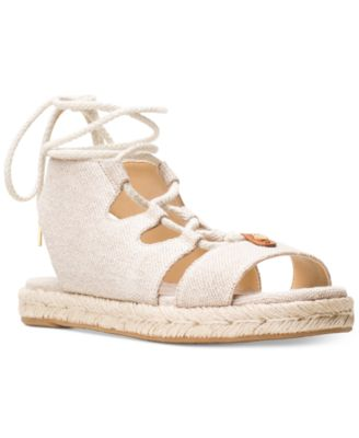 Image of MICHAEL Michael Kors McKenna Lace-Up Espadrille Sandals