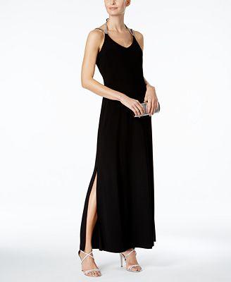 MSK Embellished Halter Gown