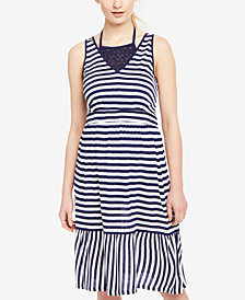 Motherhood Maternity Striped Swim Cover-Up