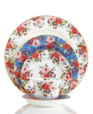Royal Albert Dinnerware Rosa Collection  sc 1 st  Macy\u0027s & Royal Albert Dinnerware Rosa Collection - Fine China - Macy\u0027s