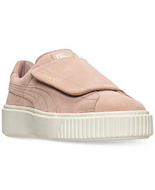 Puma Women's Suede Platform Strap Casual Sneakers from Finish Line