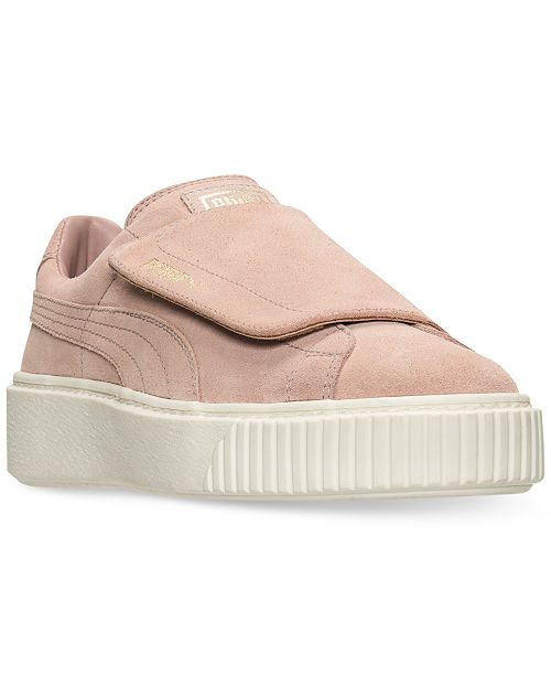 Puma Women's Suede Platform Strap Casual Sneakers from