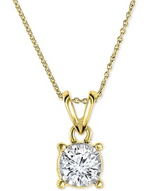 "Diamond Pendant 18"" Necklace in 14k Gold, Rose Gold or White Gold (1/2 ct. t.w.)"