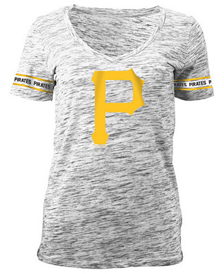 33f4c7fc297a5 5th   Ocean Women s Pittsburgh Pirates Space Dye Round Sleeve T-Shirt    Reviews - Sports Fan Shop By Lids - Women - Macy s