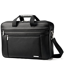 Classic Two Gusset Toploader Laptop Briefcase