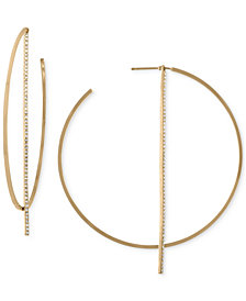 RACHEL Rachel Roy Gold-Tone Stick Hoop Earrings