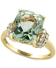 EFFY® Green Amethyst (5-1/4 ct. t.w.) and Diamond (3/8 ct. t.w.) Ring in 14k Gold