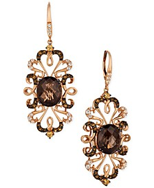 Crazy Collection® Multi-Gemstone(9-1/4 cttw) Drop Earrings in 14k Rose Gold