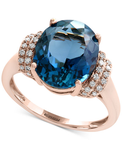 Ocean Bleu By Effy 174 London Blue Topaz 5 1 3 Ct T W And