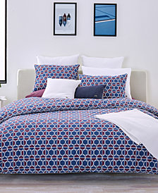 CLOSEOUT! Lacoste Home Mogador Cotton Full/Queen Duvet Set