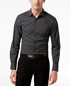 I.N.C. Men's Micro-Square Slimfit Stretch Shirt, Created for Macy's