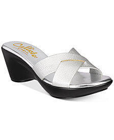 Callisto Dimple Platform Wedge Sandals