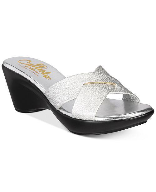 d0801633a0f3 Callisto Dimple Platform Wedge Sandals   Reviews - Sandals   Flip ...
