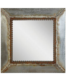 Square Metal-Framed Mirror