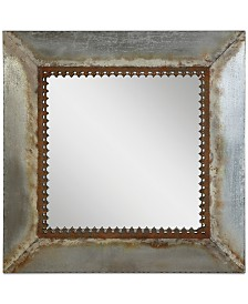 Square Metal-Framed Mirror