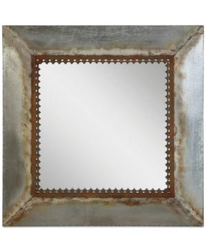 Square Metal-Framed Mirror...