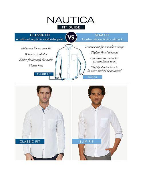2e3f20c1 Nautica Men's Classic-Fit Stretch Button-Down Shirt & Reviews ...