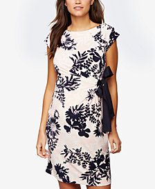 Taylor Maternity Floral-Print A-Line Dress