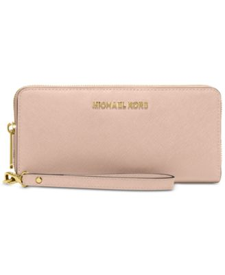 michael kors jet set travel crossgrain leather continental wallet rh macys com