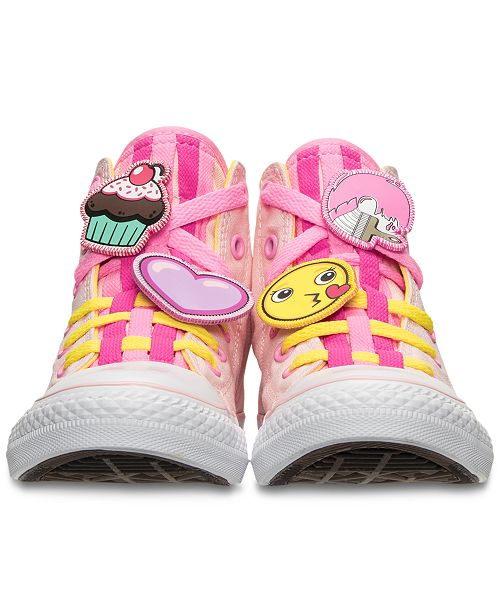 c4f8757785dd ... Converse Little Girls  Chuck Taylor Loopholes Emoji High Top Casual  Sneakers from Finish ...