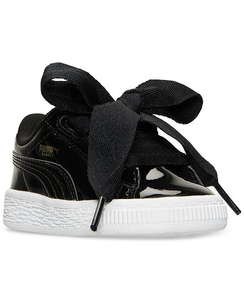 ... Puma Toddler Girls  Basket Heart Patent Casual Sneakers from Finish ... 0b1ae87d6