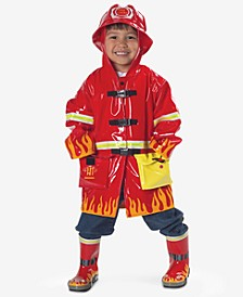 Fireman Rain Gear, Toddler Boys & Little Boys