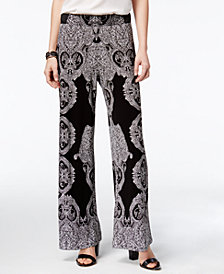 I.N.C. Printed Soft Pants, Created for Macy's
