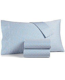 Charter Club Damask Designs Printed Dot Standard Pillowcase Pair, 500 Thread Count, Created for Macy's