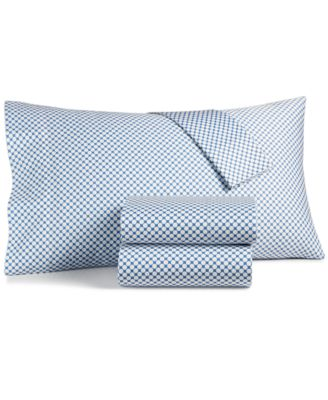 Charter Club Damask Designs Printed Standard Pillowcase Pair 500 Thread Count Created for Macy\u0027s