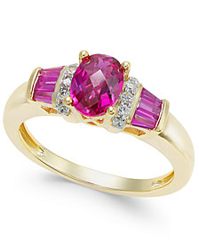 Ruby (1-1/2 ct. t.w.) and Diamond Accent Ring in 14k Gold