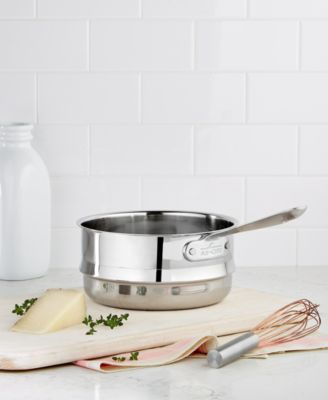 allclad stainless steel 3 qt double boiler insert
