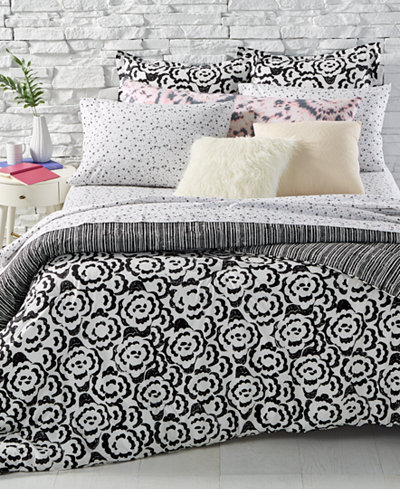 BCBGeneration Floral Clouds Reversible Bedding Collection