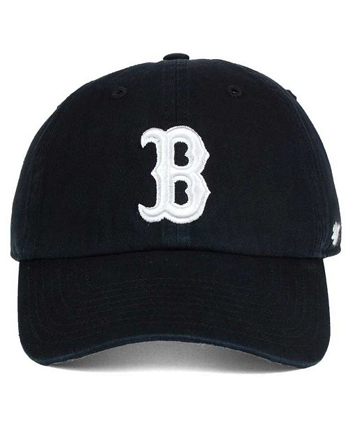 47 Brand Boston Red Sox Black White CLEAN UP Cap - Sports Fan Shop ... 1cc5d2b25f2