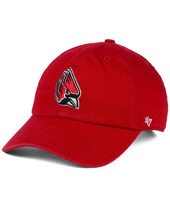 '47 Brand Ball State Cardinals NCAA Clean-Up Cap