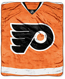 Northwest Company Philadelphia Flyers Raschel Stamp Throw Blanket