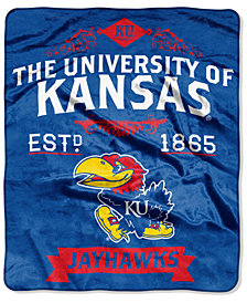 Northwest Company Kansas Jayhawks Raschel Rebel Throw Blanket