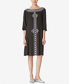 Avec Les Filles Embroidered Off-The-Shoulder Dress