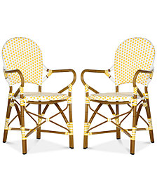 Boylin Set of 2 Indoor/Outdoor Wicker Armchair, Quick Ship