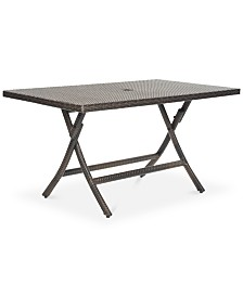 Telson Outdoor Rectangle Folding Table, Quick Ship