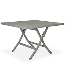 Bordina Outdoor Square Folding Table, Quick Ship