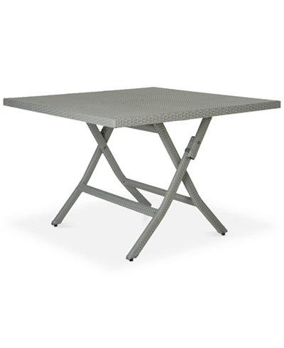 Bordina Outdoor Square Folding Table, Quick Ship