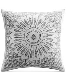 """Sofia Embroidered 20"""" Square Decorative Pillow"""
