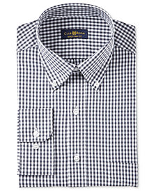 Club Room Men's Estate Classic-Fit Wrinkle Resistant Gingham Dress Shirt, Created for Macy's
