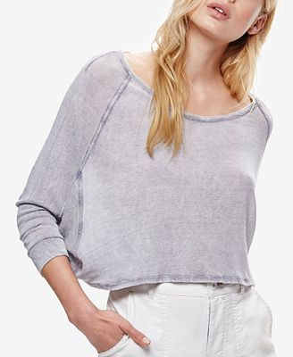 Free People Cropped Long-Sleeve T-Shirt