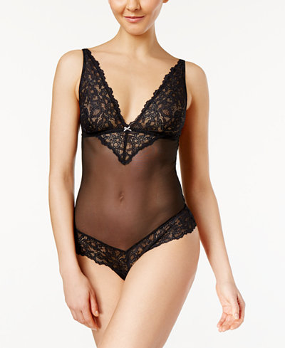 b.tempt'd by Wacoal b. Charming Mesh and Lace Bodysuit 936232